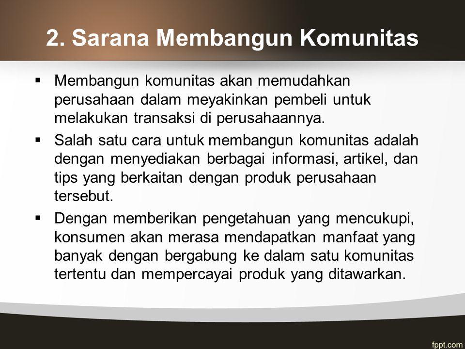 2. Sarana Membangun Komunitas