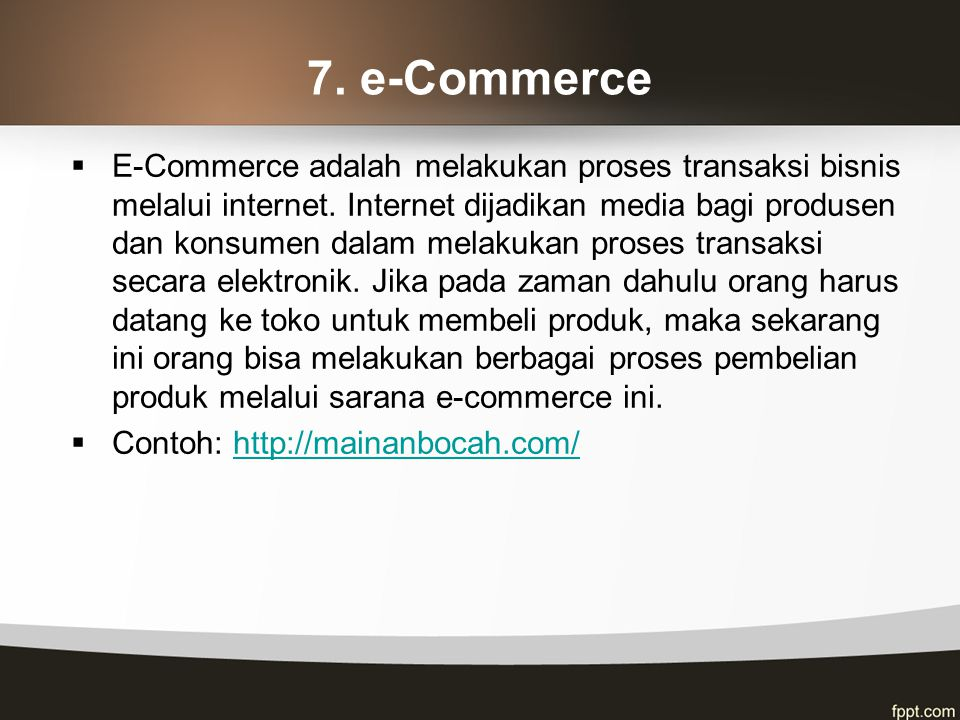 7. e-Commerce