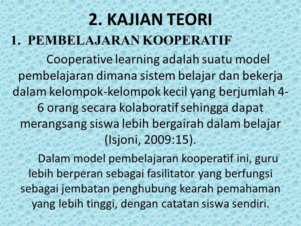 2. KAJIAN TEORI PEMBELAJARAN KOOPERATIF