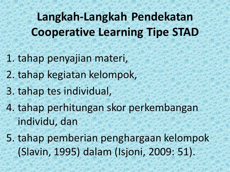 Langkah-Langkah Pendekatan Cooperative Learning Tipe STAD