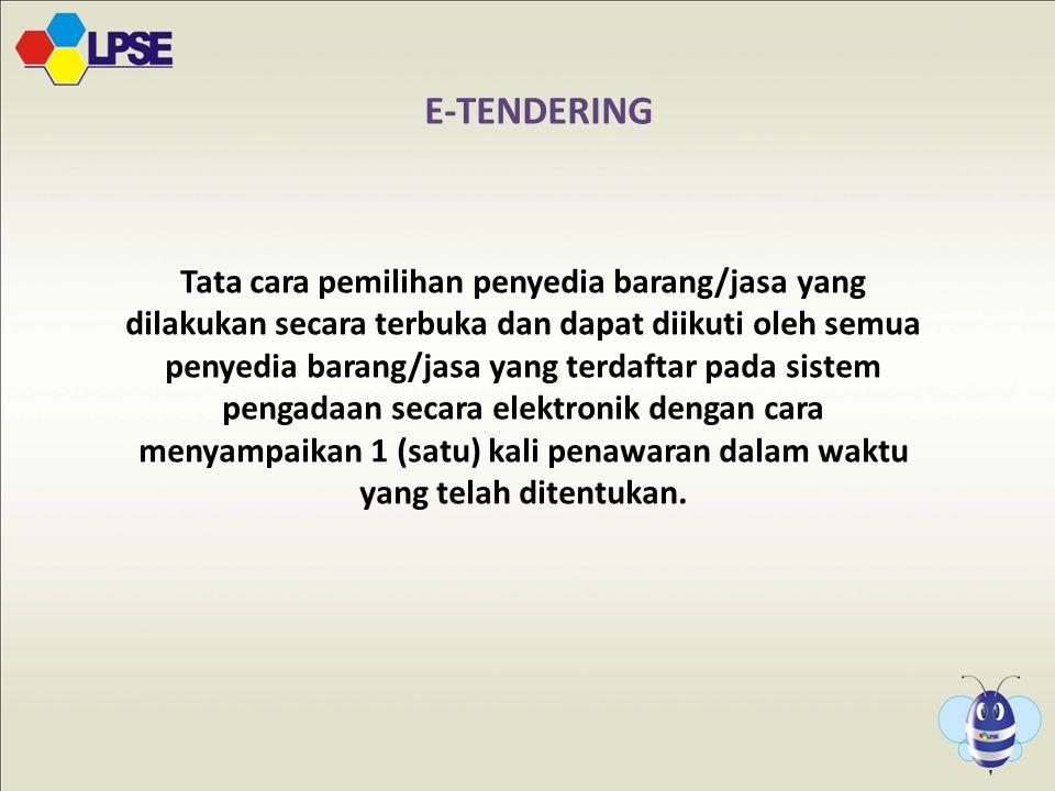 5 E-TENDERING.