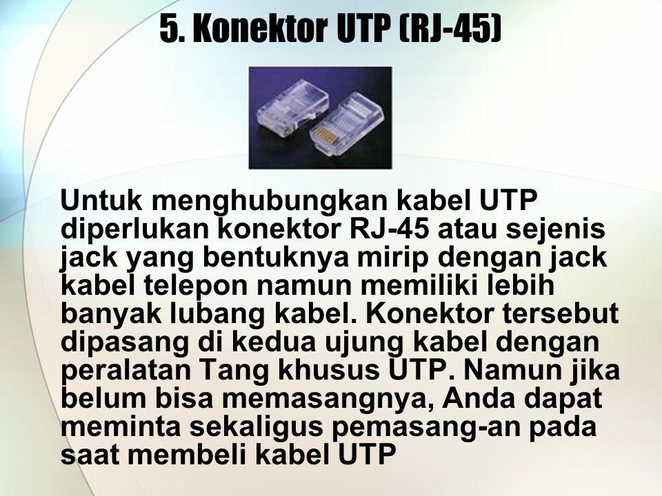 5. Konektor UTP (RJ-45)