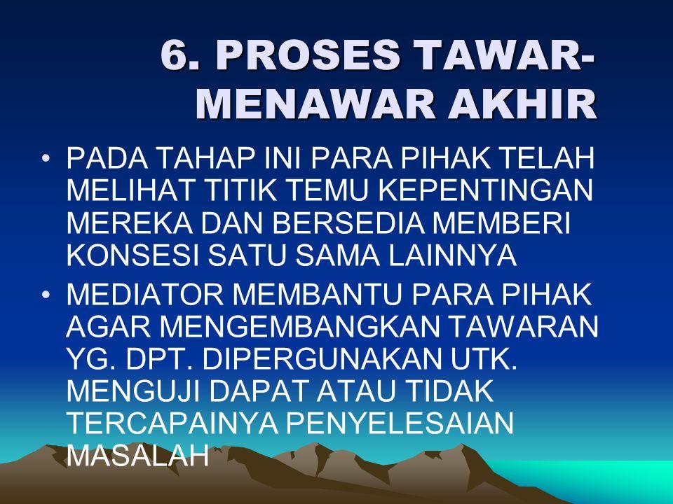 6. PROSES TAWAR-MENAWAR AKHIR