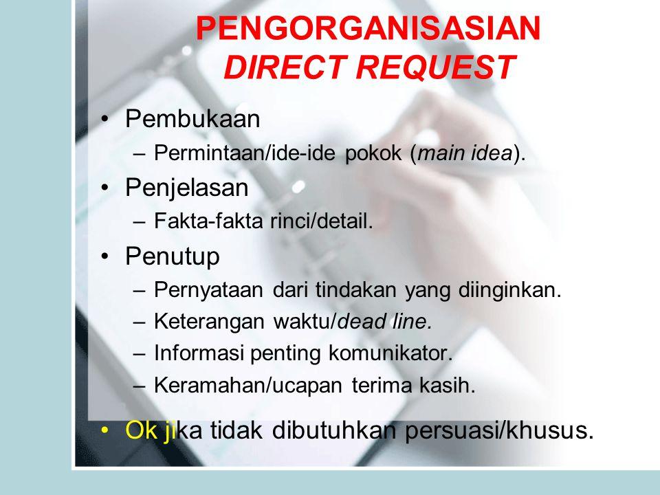 PENGORGANISASIAN DIRECT REQUEST