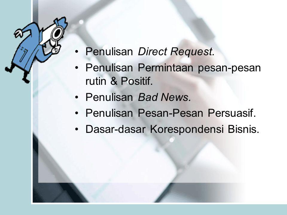 Penulisan Direct Request.