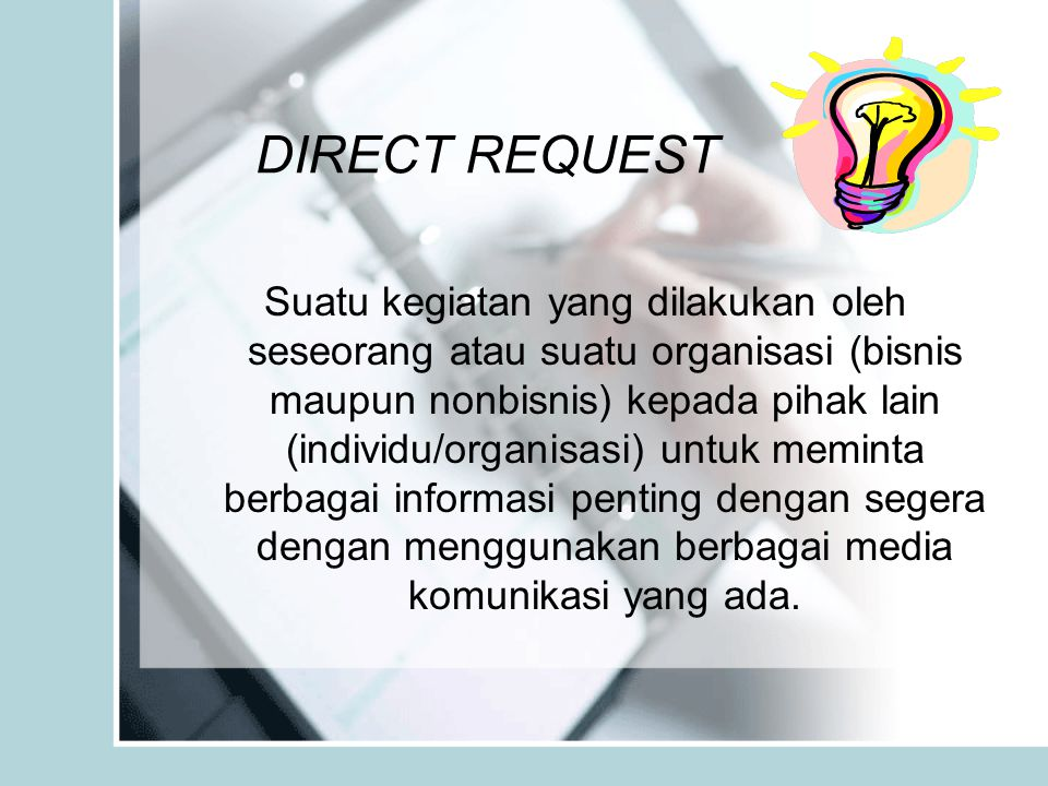 DIRECT REQUEST