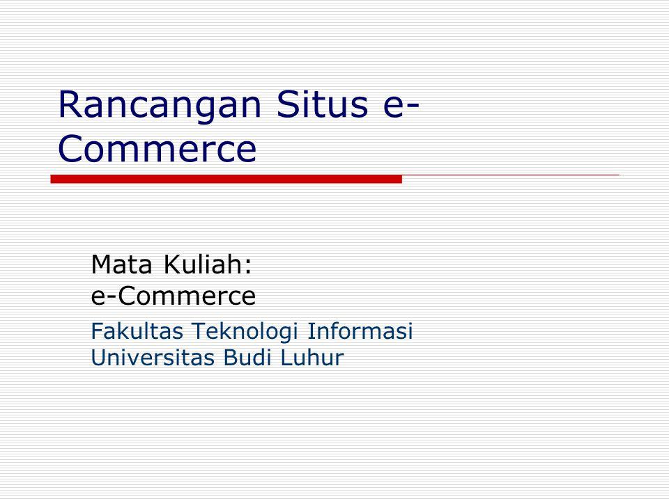 Rancangan Situs e-Commerce