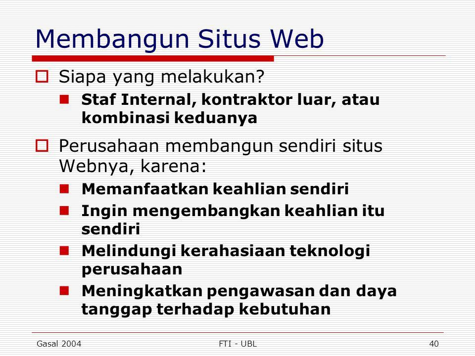 Membangun Situs Web Siapa yang melakukan