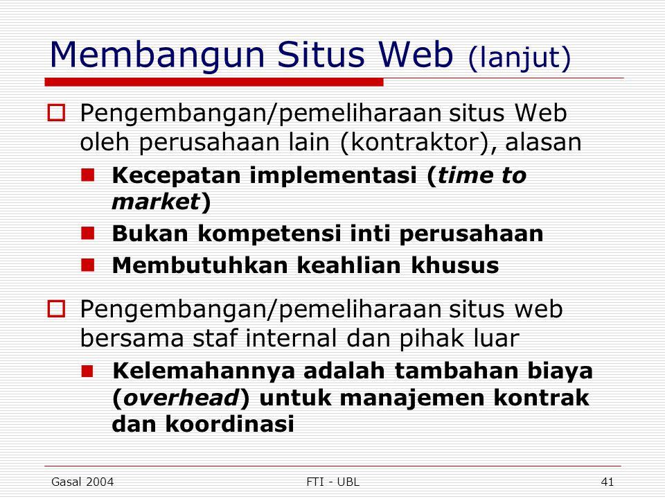 Membangun Situs Web (lanjut)