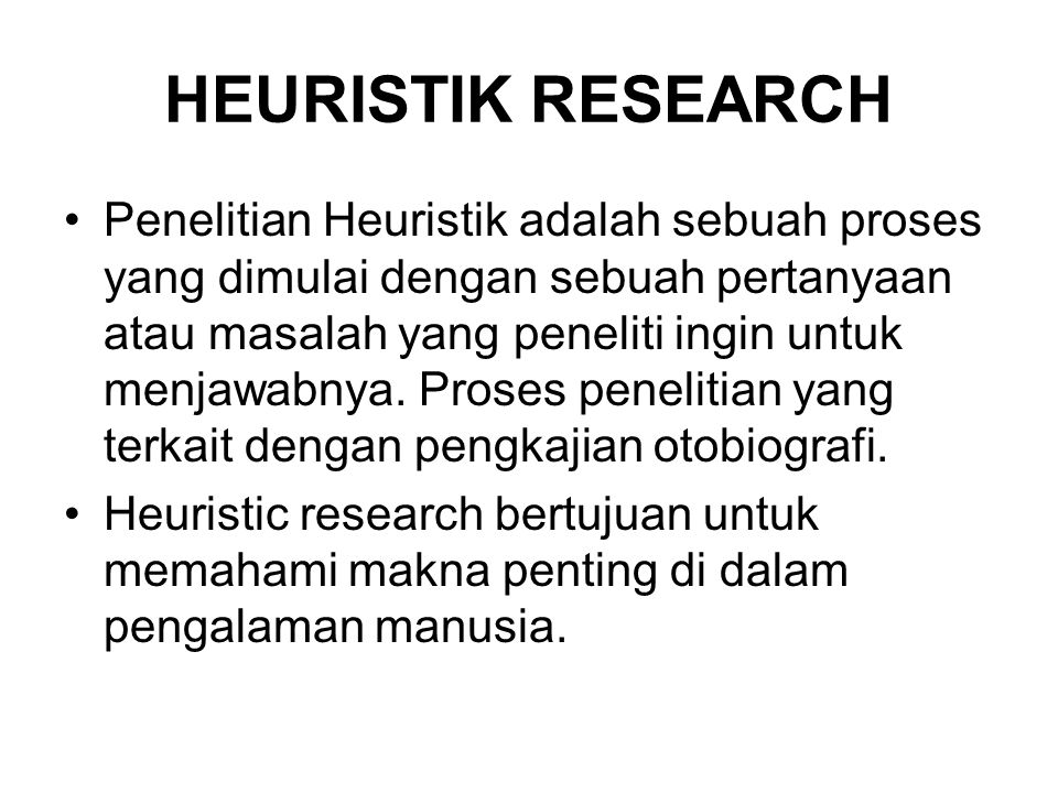 HEURISTIK RESEARCH