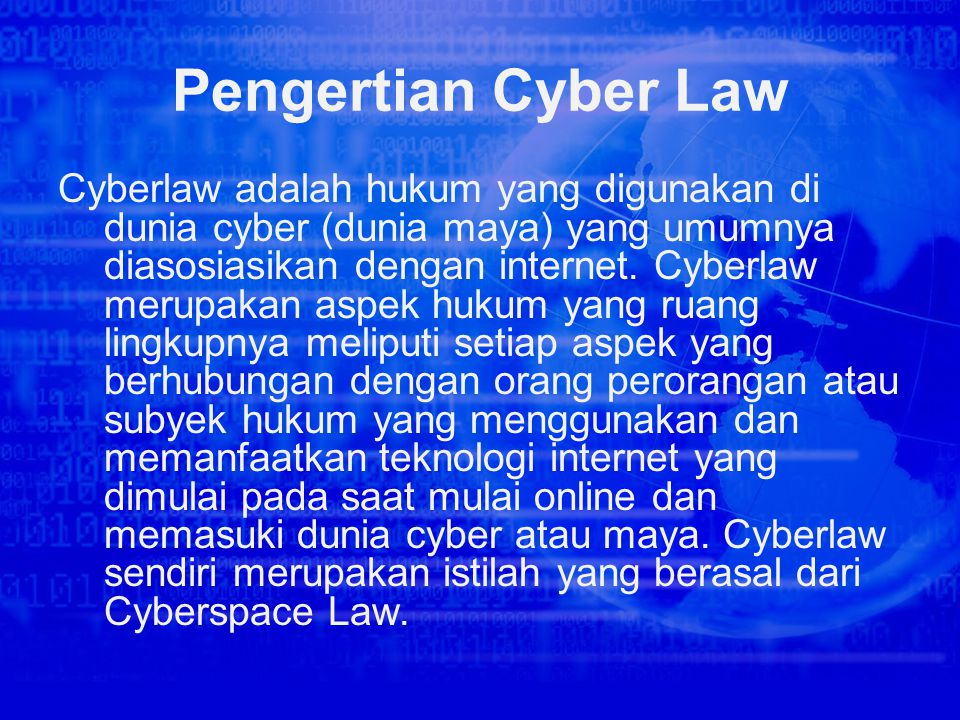 Pengertian Cyber Law
