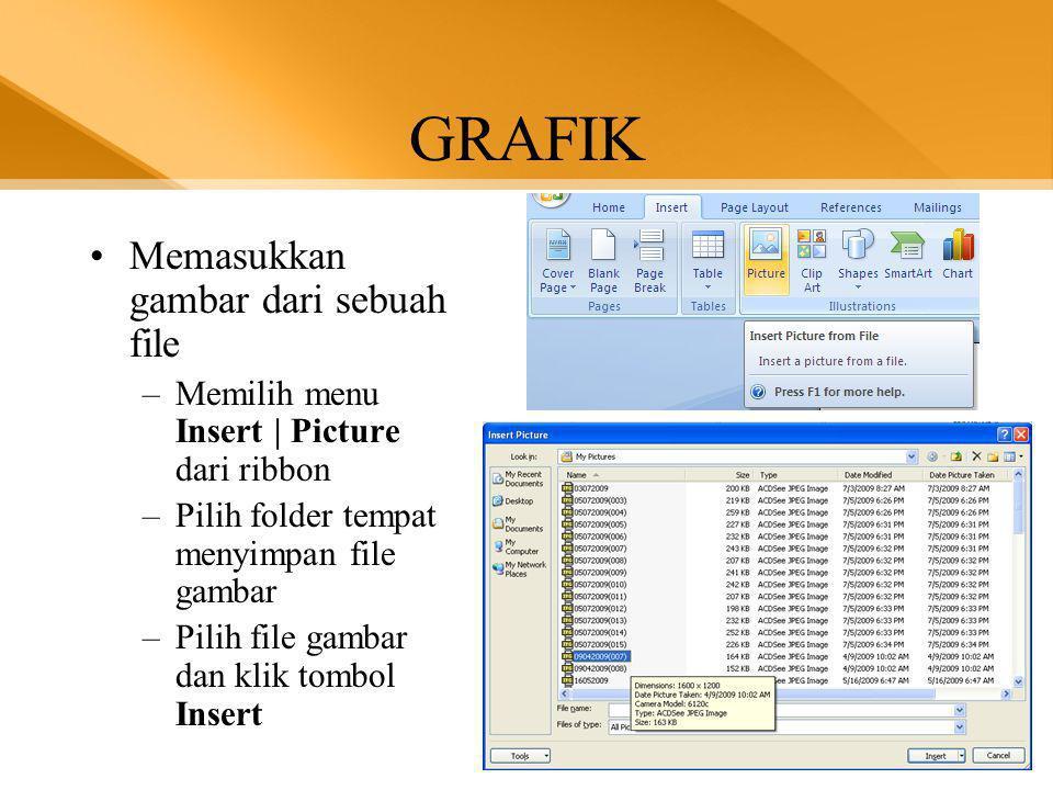 GRAFIK Memasukkan gambar dari sebuah file