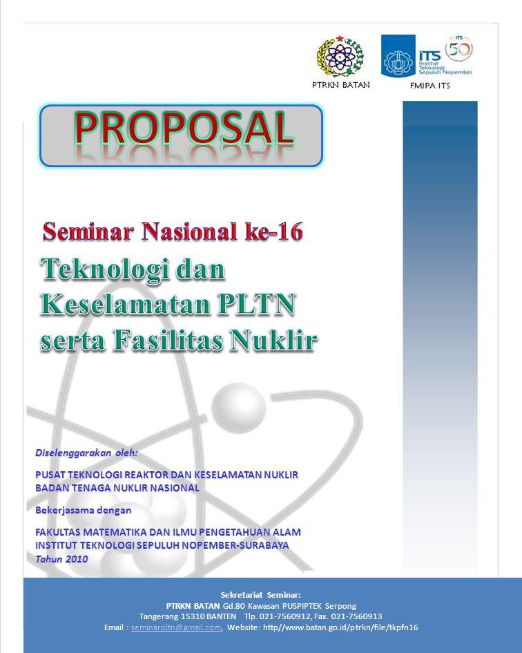 PROPOSAL Teknologi dan Keselamatan PLTN serta Fasilitas Nuklir