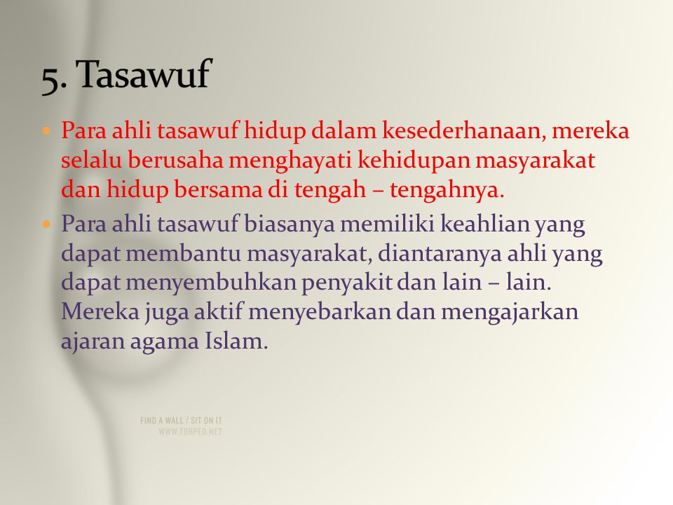 5. Tasawuf