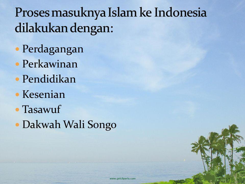 Proses masuknya Islam ke Indonesia dilakukan dengan: