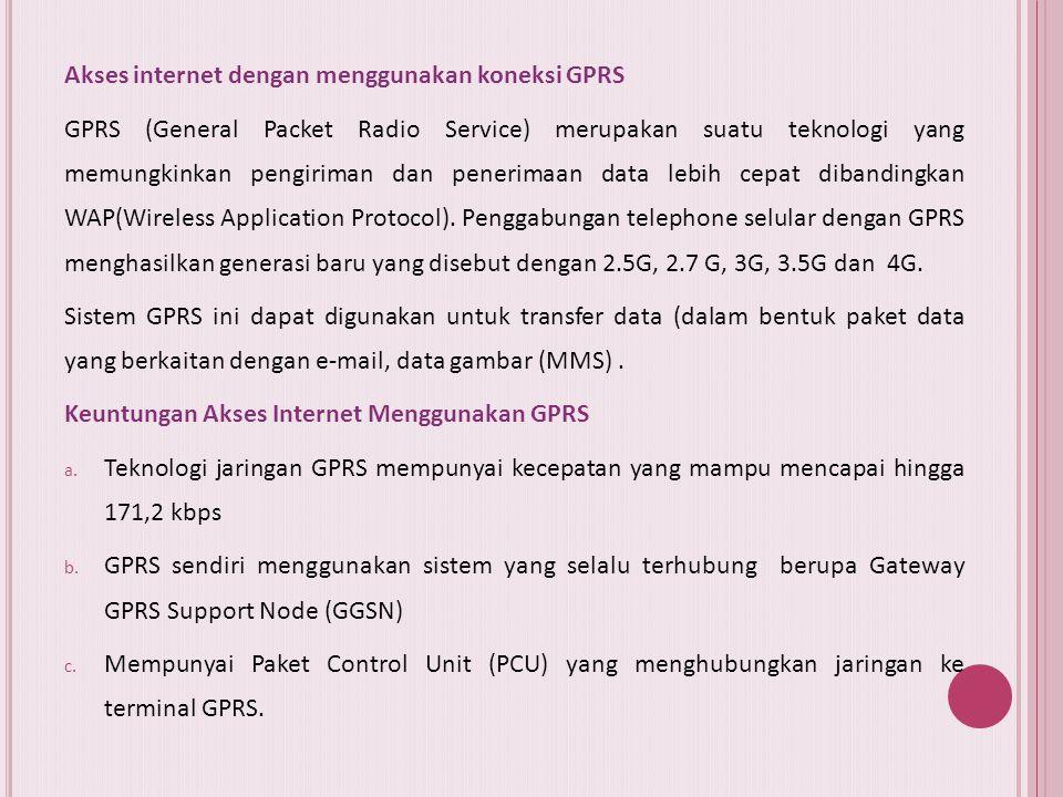 Akses internet dengan menggunakan koneksi GPRS