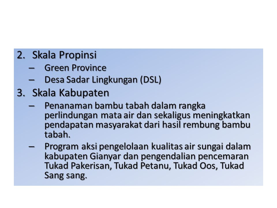 Skala Propinsi Skala Kabupaten Green Province