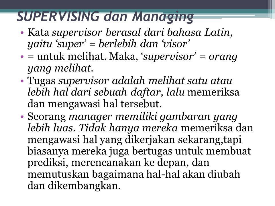 SUPERVISING dan Managing