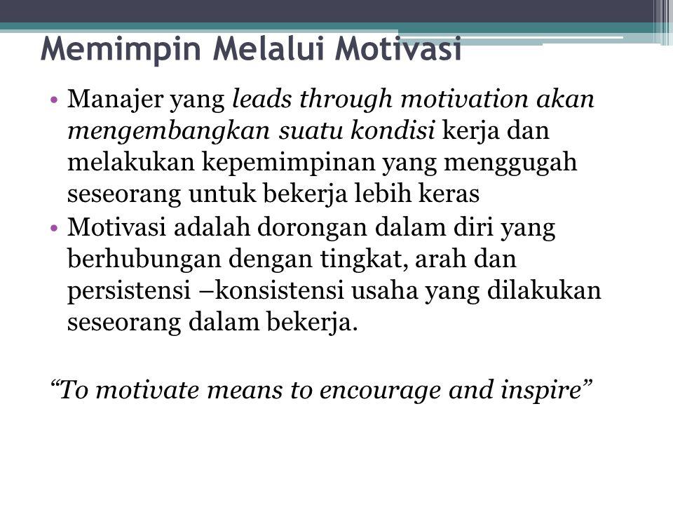 Memimpin Melalui Motivasi