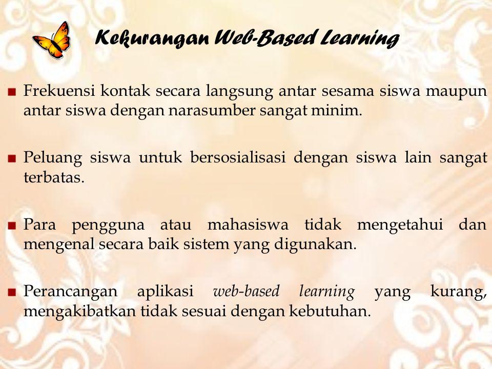 Kekurangan Web-Based Learning