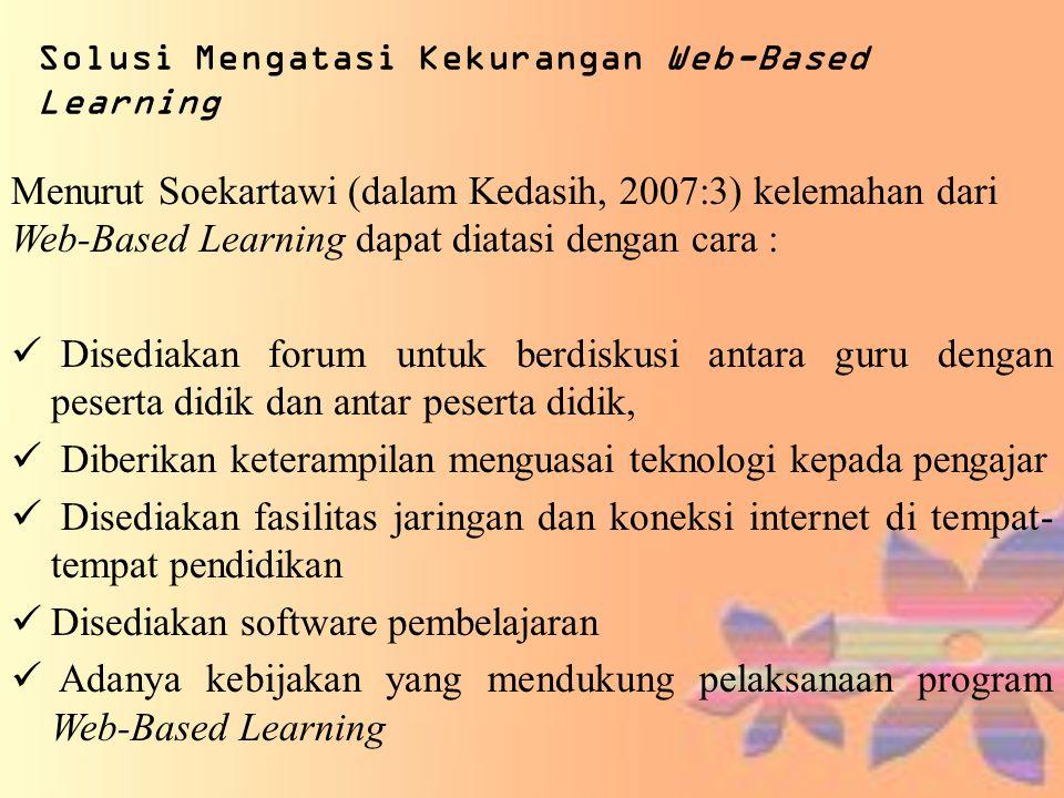 Solusi Mengatasi Kekurangan Web-Based Learning