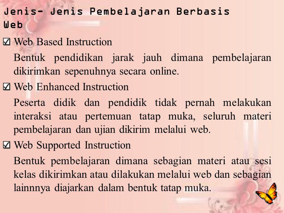 Jenis- Jenis Pembelajaran Berbasis Web