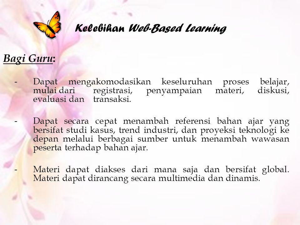 Kelebihan Web-Based Learning
