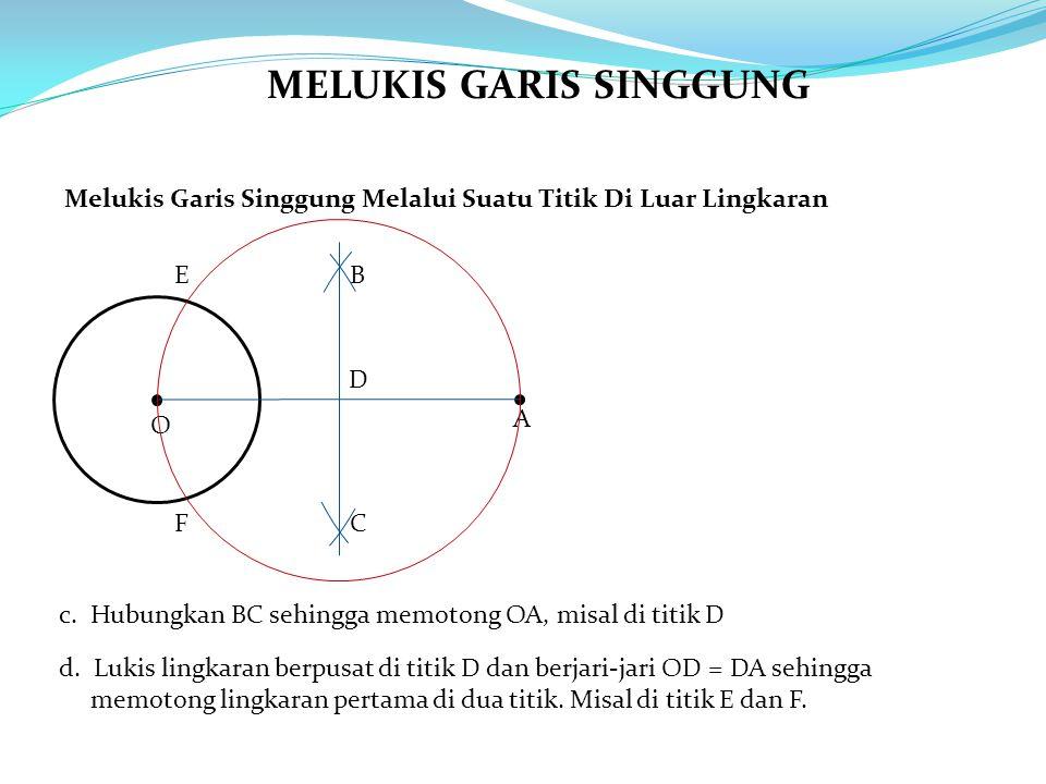MELUKIS GARIS SINGGUNG