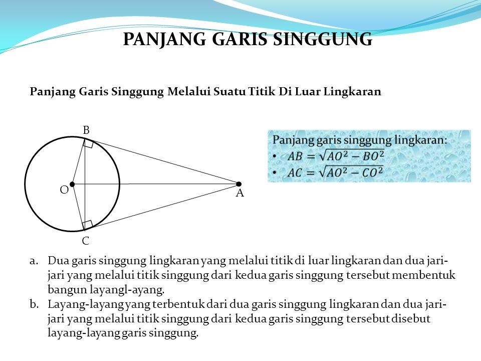PANJANG GARIS SINGGUNG
