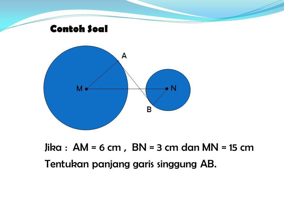 Jika : AM = 6 cm , BN = 3 cm dan MN = 15 cm