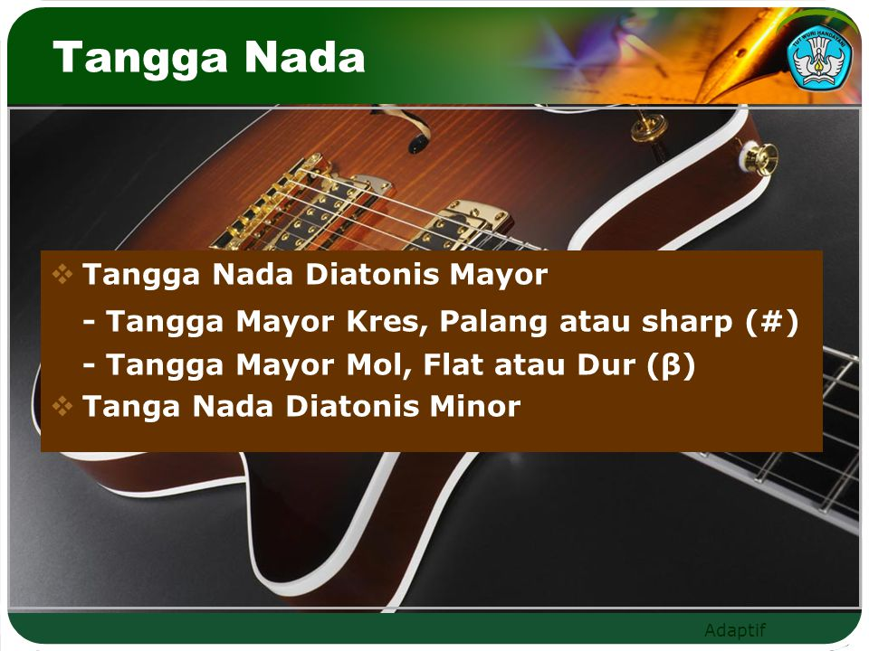 Tangga Nada - Tangga Mayor Kres, Palang atau sharp (#)