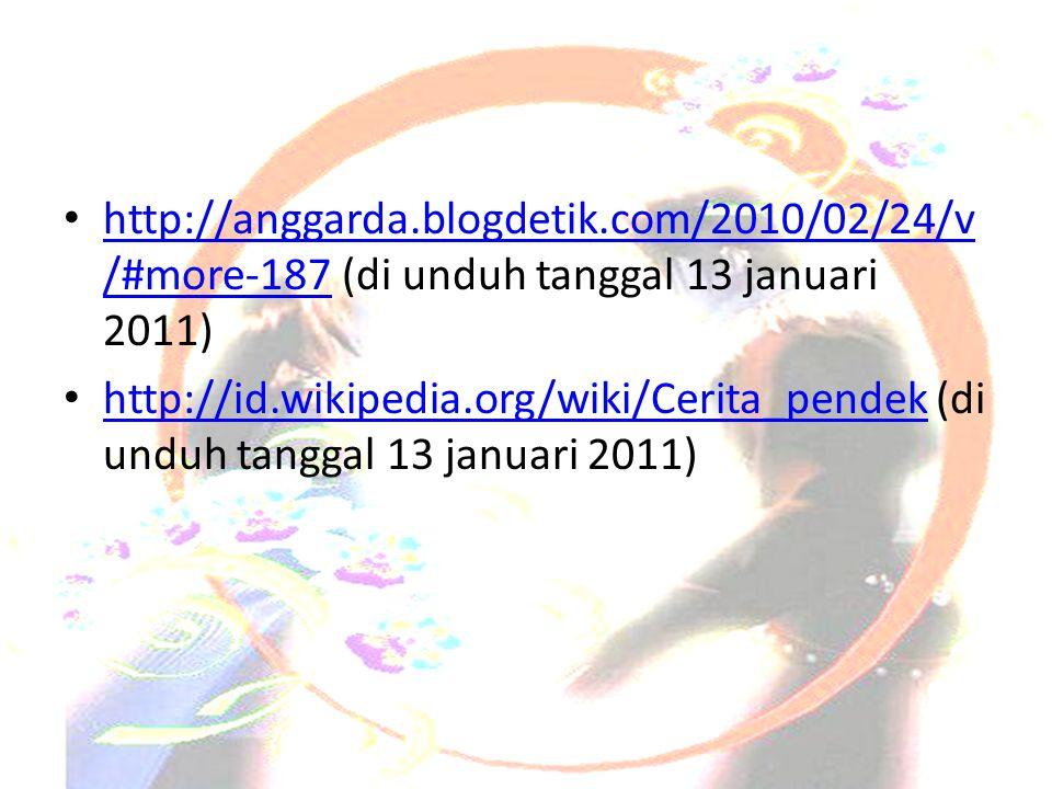 Daftar Pustaka http://anggarda.blogdetik.com/2010/02/24/v/#more-187 (di unduh tanggal 13 januari 2011)