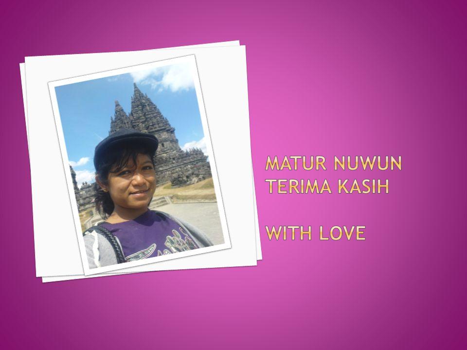 Matur Nuwun terima kasih with love