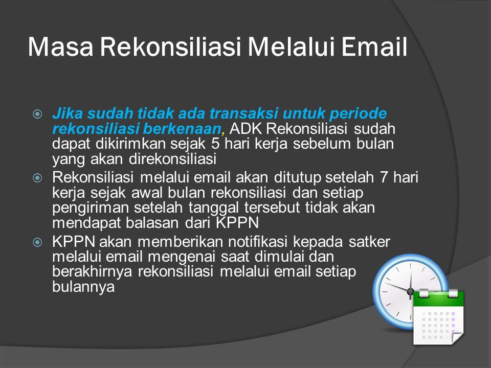 Masa Rekonsiliasi Melalui Email