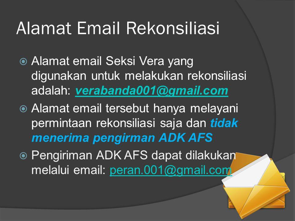 Alamat Email Rekonsiliasi