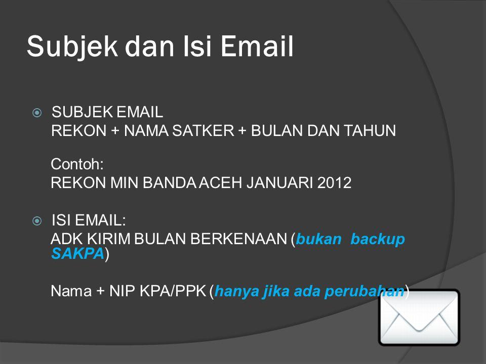 Subjek dan Isi Email SUBJEK EMAIL