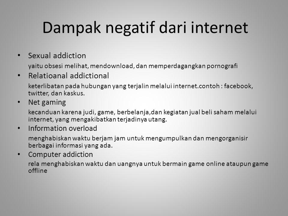 Dampak negatif dari internet