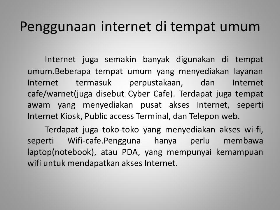 Penggunaan internet di tempat umum