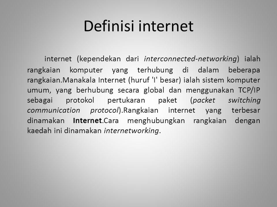 Definisi internet