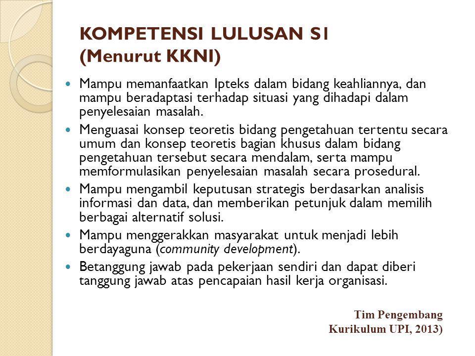KOMPETENSI LULUSAN S1 (Menurut KKNI)