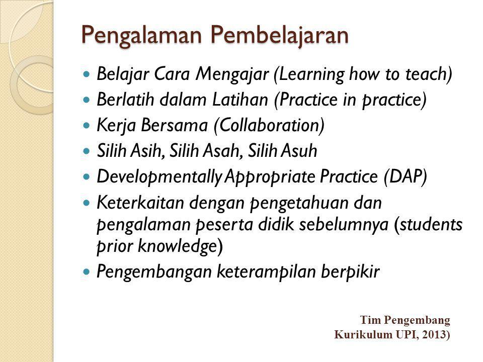 Pengalaman Pembelajaran
