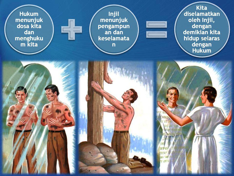 Hukum menunjuk dosa kita dan menghukum kita
