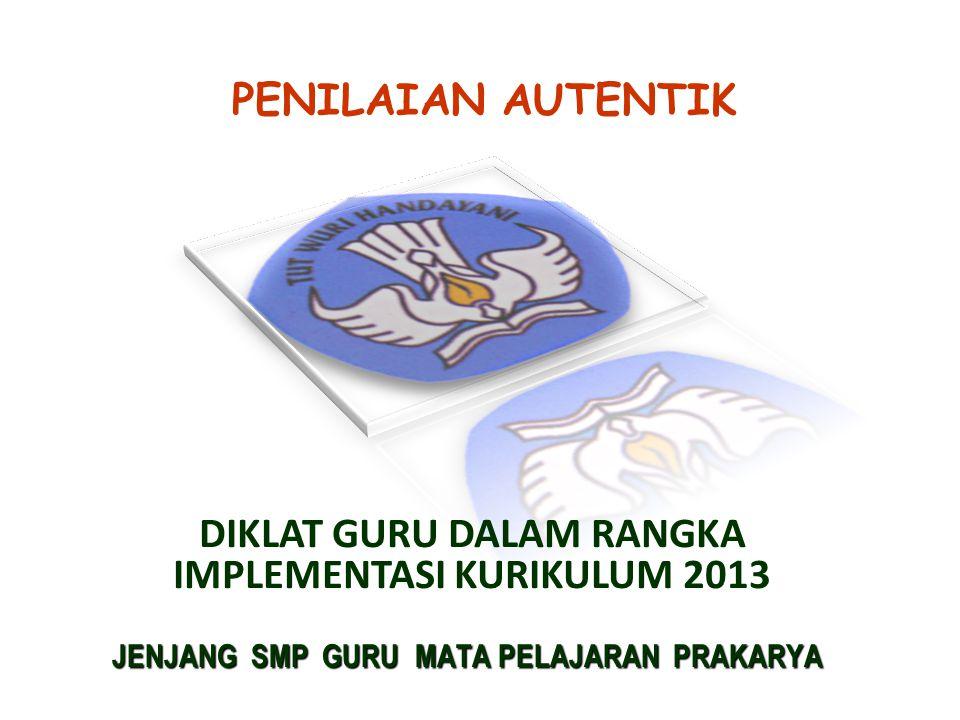 DIKLAT GURU DALAM RANGKA IMPLEMENTASI KURIKULUM 2013