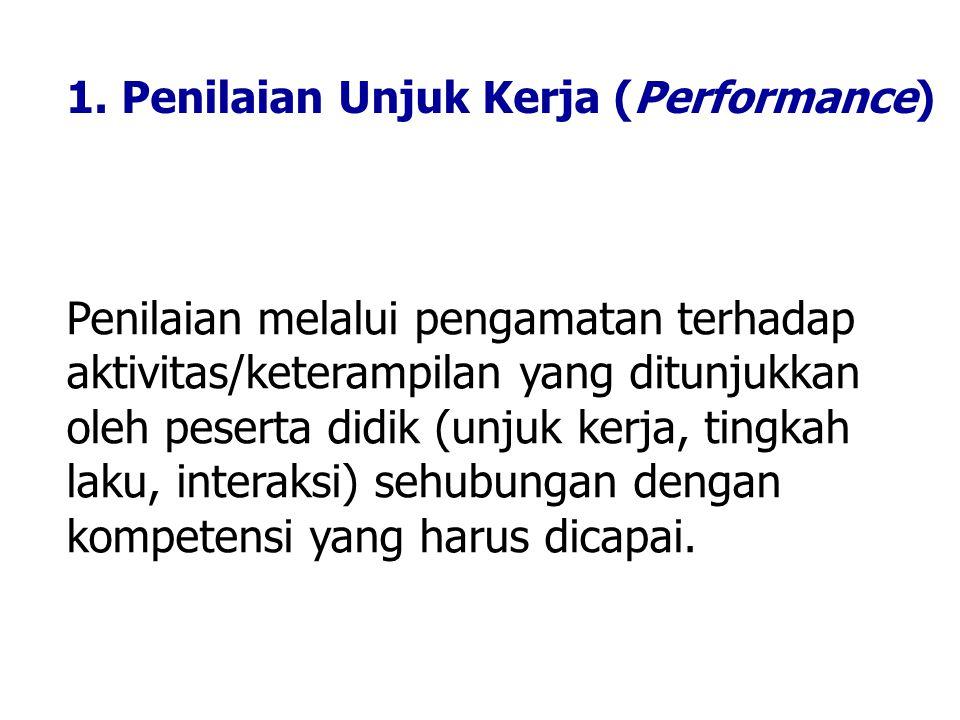 1. Penilaian Unjuk Kerja (Performance)