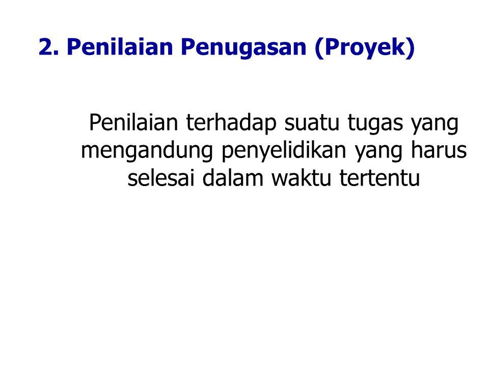 2. Penilaian Penugasan (Proyek)