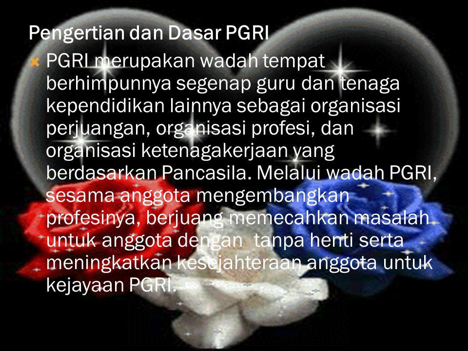 Pengertian dan Dasar PGRI