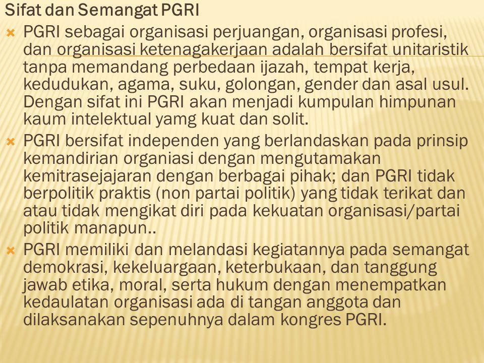 Sifat dan Semangat PGRI