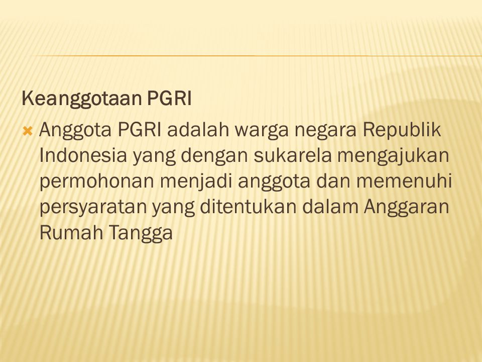 Keanggotaan PGRI