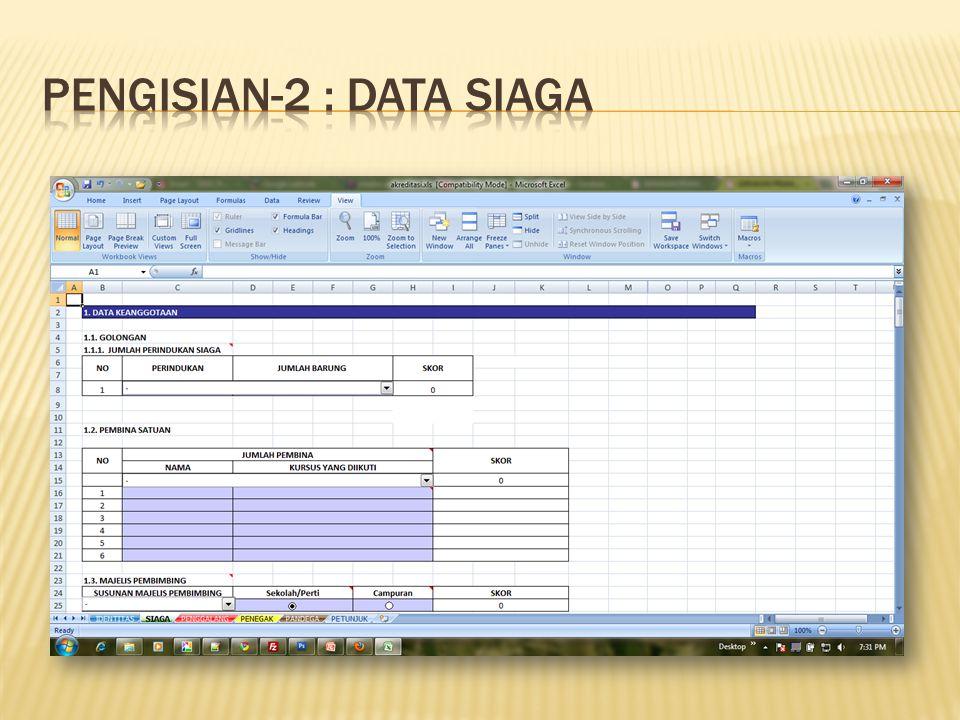 Pengisian-2 : Data SIAGA