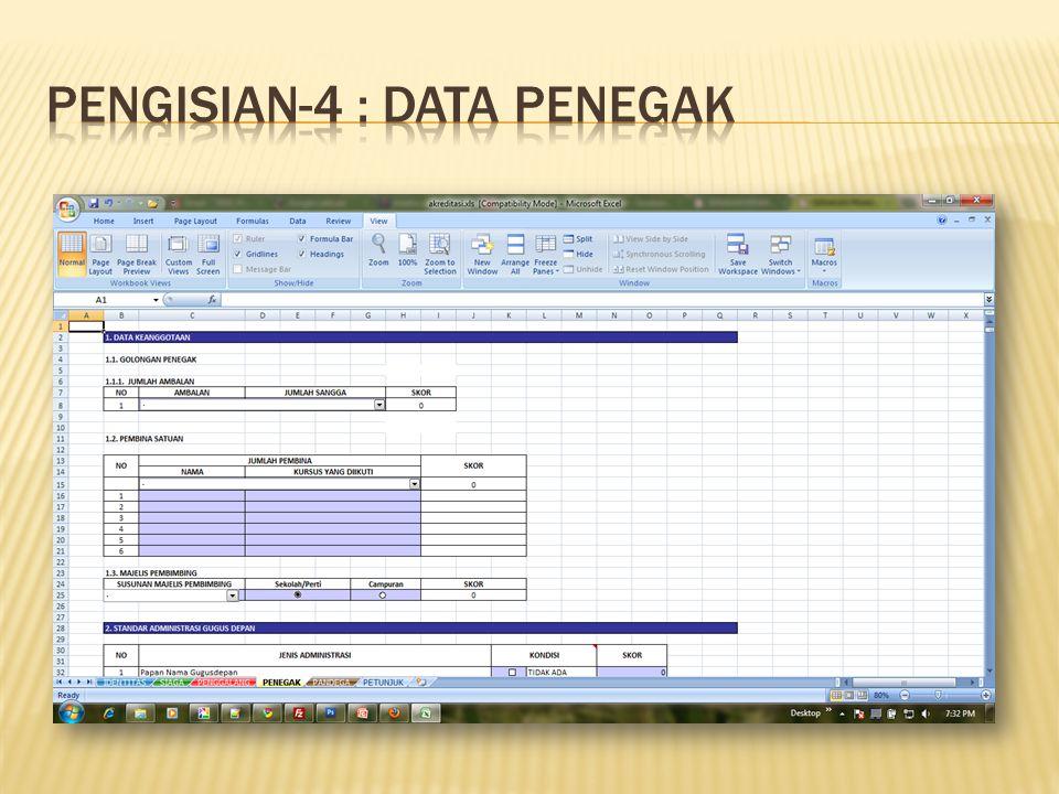Pengisian-4 : Data PENEGAK